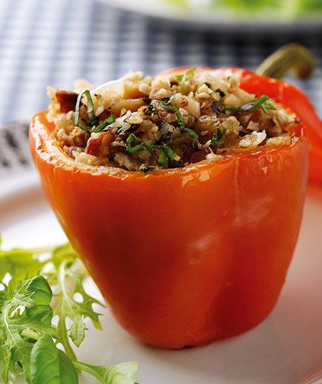 Baked Peppers with Oaty Nut Stuffing Recipe