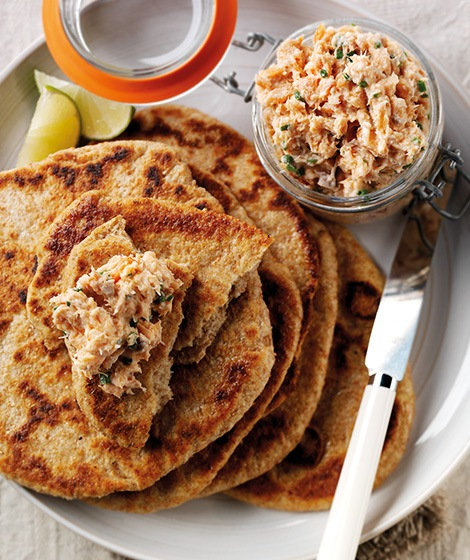 Flatbreads with Hot Smoked Salmon Pate Recipe