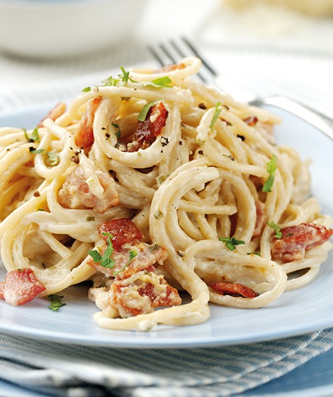 Light Wholewheat Spaghetti Carbonara Recipe