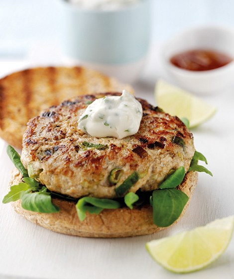 Thai Turkey Burgers in Wholemeal Baps Recipe