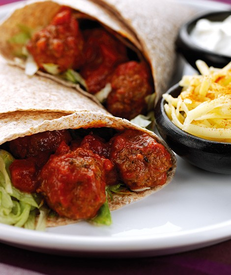 Tomato Meatball Wraps Recipe