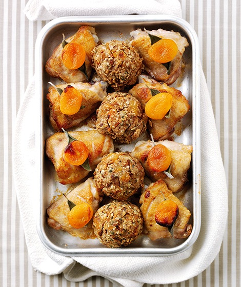 Chicken with Oat, Sage & Apricot Stuffing