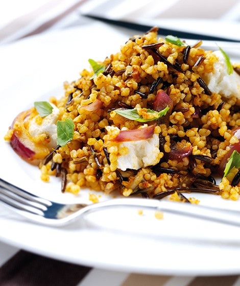 Cracked Wheat, Wild Rice & Pesto Pilaf