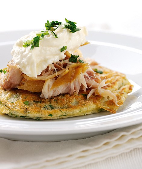 Oat Pancakes with Smoked Mackerel Recipe