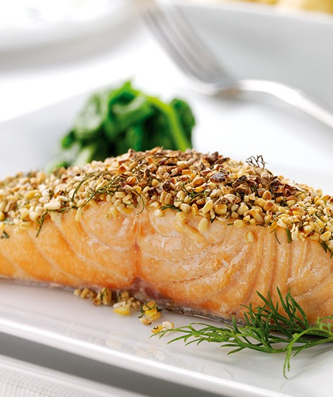 Oatmeal & Dill Crusted Salmon