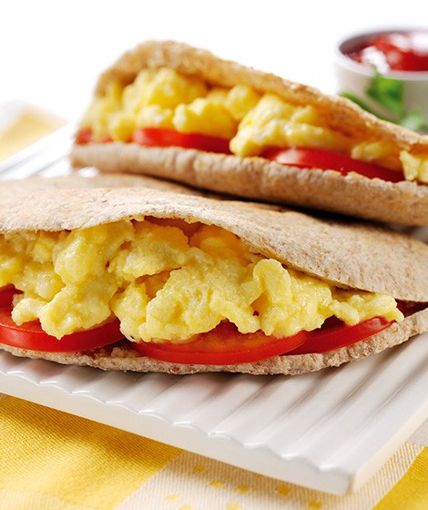 Scrambled Egg Pittas
