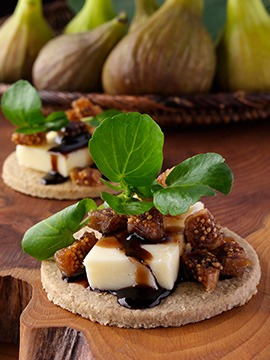 Mature Hard Cheese - Dried Fig - Watercress
