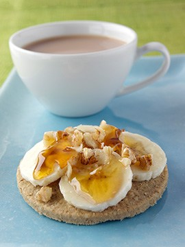Oatcakes with Banana Walnut and Honey
