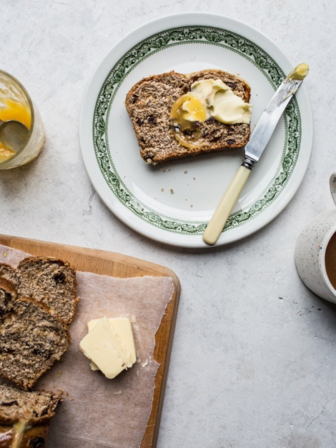 Izy Hossack Rye Hot Cross Bun Loaf recipe