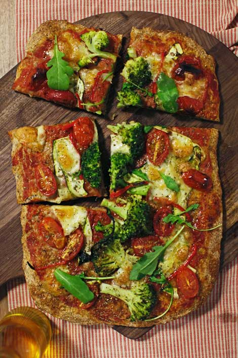 Whole Grain Flatbread Pizzas Recipe